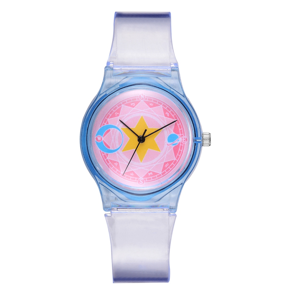 Ladies Fashion Watches For Women Cartoon Dial Transparent Strap Bracelet Quartz Clock Reloj Mujer Relogio Feminino
