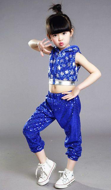 3d2e27113 Children s dance costumes Little girls sequins jazz dance Modern ...