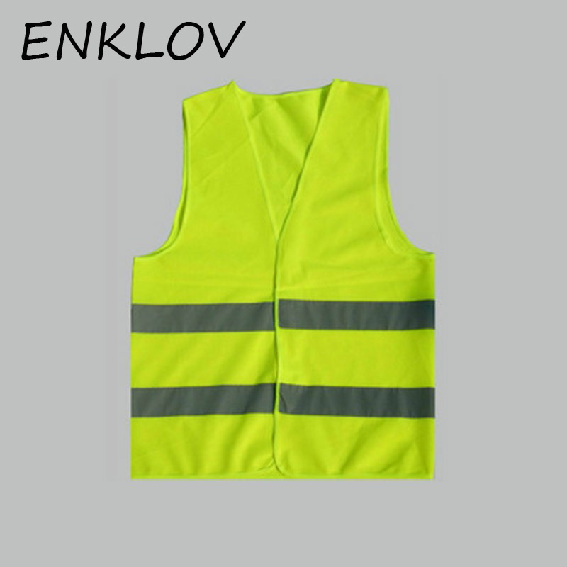 ENKLOV Car Vest Plus Size Reflective Vest Working Clothes Provides High Visibility Day Night For Warning Safety Vest safety reflective vest highlight reflector stripe for day night working