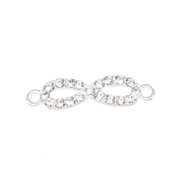 6 pièces or et argent en forme de 8 double pendaison connecteur infini fabrication de bijoux bracelet accessoires bricolage artisanat