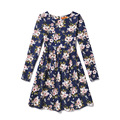 Girl Dress Children Summer Girls Dresses 2017 long Sleeve Floral Print Party Dresses Girls Princess Dress Children Clothes New