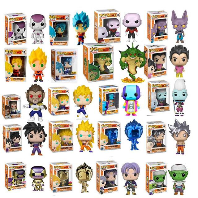 Funko pop PORUNGA Amina Dragon Ball SUPER SAIYAN GOKU FRIEZA de Ouro GRANDE VEGETA Action Figure Collectible Modelo de Vinil com caixa