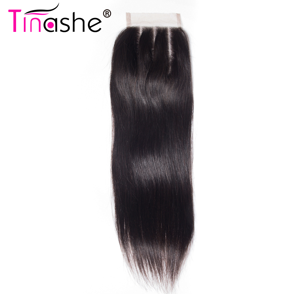 Hair Extensions & Wigs Human Hair Lace Closure 4x4 Free Middle Three Part With Baby Hair 150% Density Remy Hair Ali Paerl Pure White And Translucent