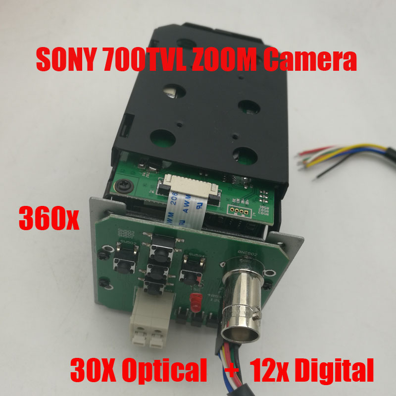 NOVOXY  360X  1/3 700TVL Sony CCD 30x Optical 12x Digital ICR CCTV Block Camera Module with control board Lens Free ShippingNOVOXY  360X  1/3 700TVL Sony CCD 30x Optical 12x Digital ICR CCTV Block Camera Module with control board Lens Free Shipping