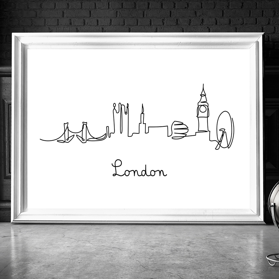 Abstract-City-London-NY-Line-Drawing-Nordic-Posters-Prints-Modern-Canvas-Painting-Wall-Minimalist-Picture-For (1)