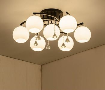 البلاد الأمريكي السقف مصباح LED غرفة المعيشة بسيطة الحديثة مطعم دافئ غرفة نوم شخصية مصابيح من الكريستال