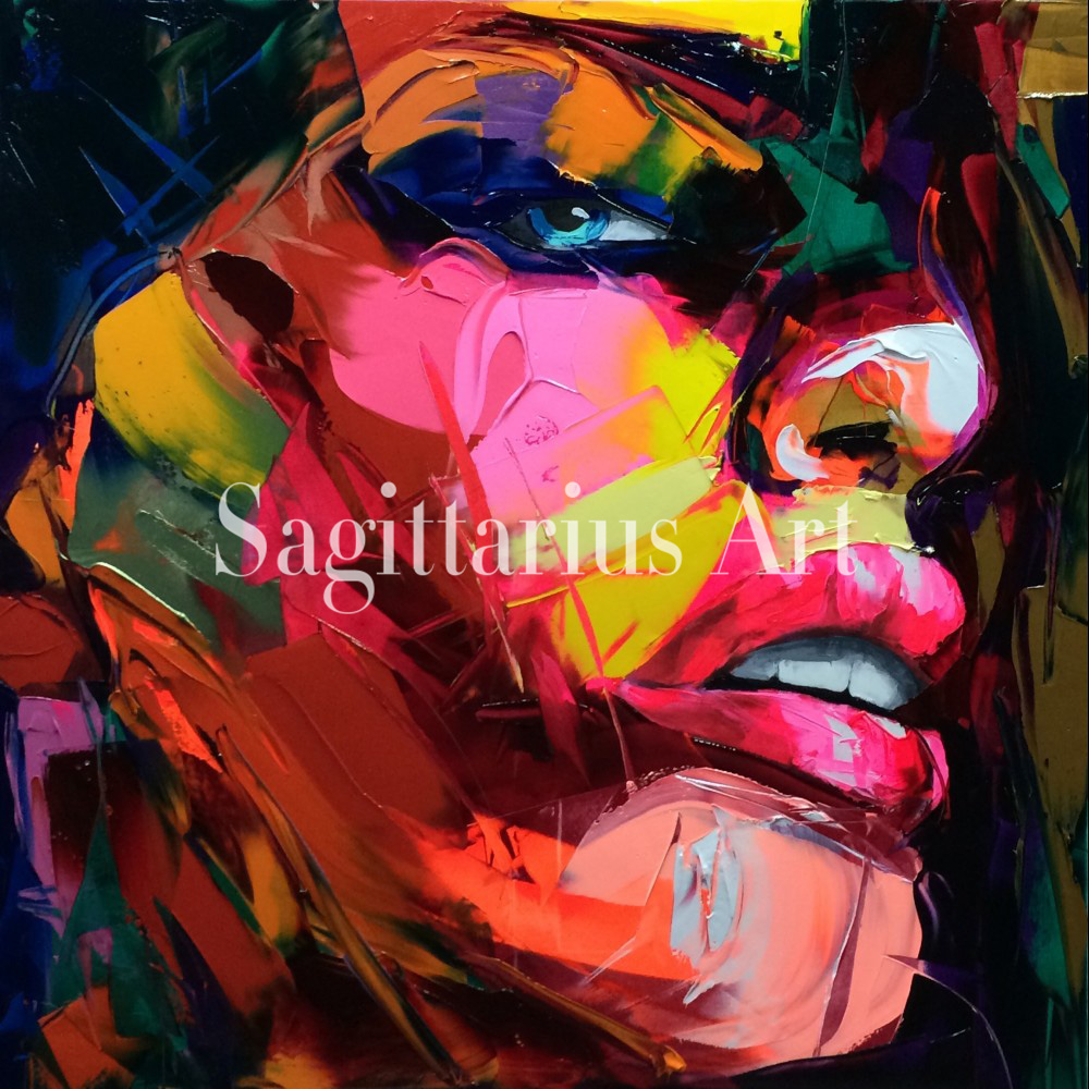 Francoise Nielly Designers Art work Hand Painted Palette knife Oil Painting Canvas Wall Decoration For Living Room Fine Art