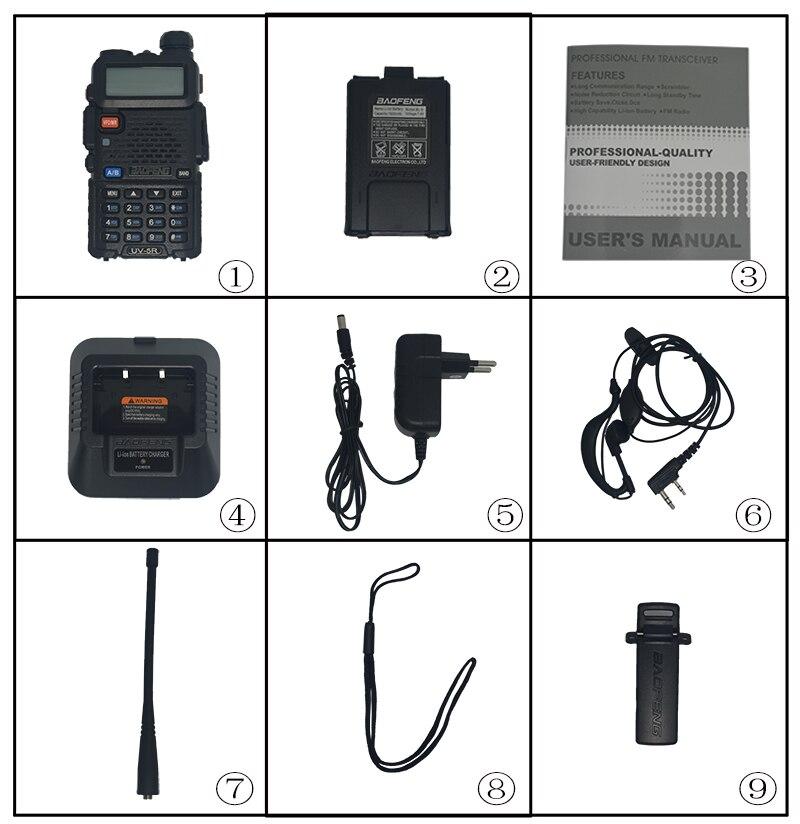 Image 4 - Baofeng UV 5R Walkie Talkie two way communicator Transceiver FM UV5r VHF UHF Portable pofung UV 5R Hunting CB Ham Radio Station-in Walkie Talkie from Cellphones & Telecommunications