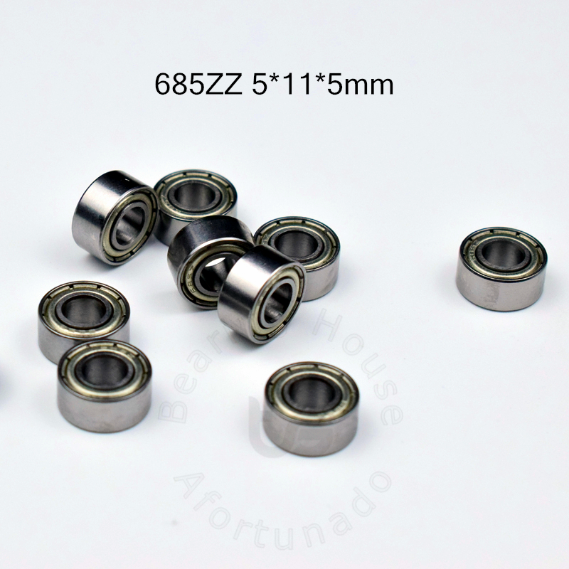 685 685ZZ 5*11*5(mm) 10pieces Bearing Free Shipping ABEC-5  Metal Sealed Miniature Bearing 685 685Z 685ZZ Chrome Steel Bearing