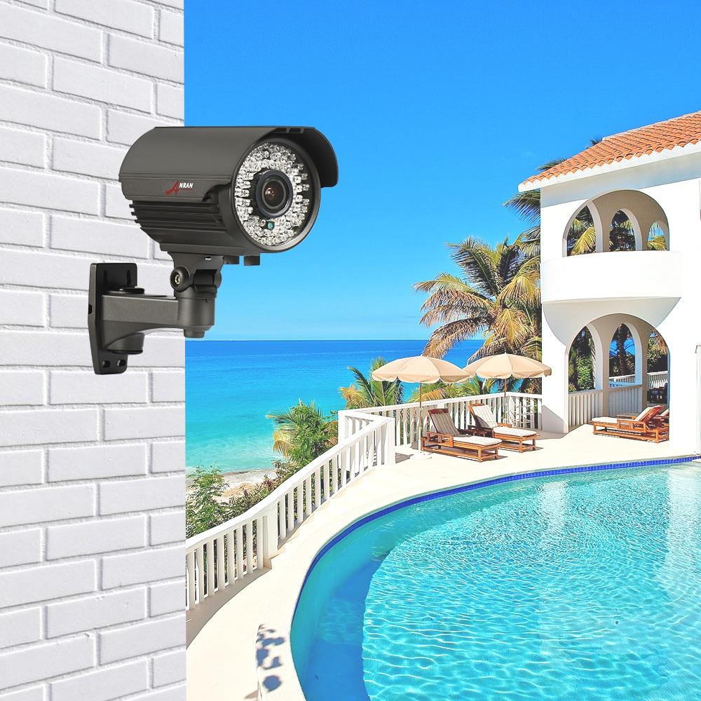 ANRAN Bullet Camera POE HD 2MP 48V IP Camera 2.8mm-12mm Manual Lens Motion Detect Night Vision CCTV Camera IR Security Camera
