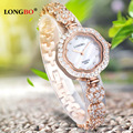 Luxury LONGBO Brand Korean Fashion Top Quality Girl Friend Gift Full Diamond Watch waterproof Female Lady Rhinestone Wrist watch