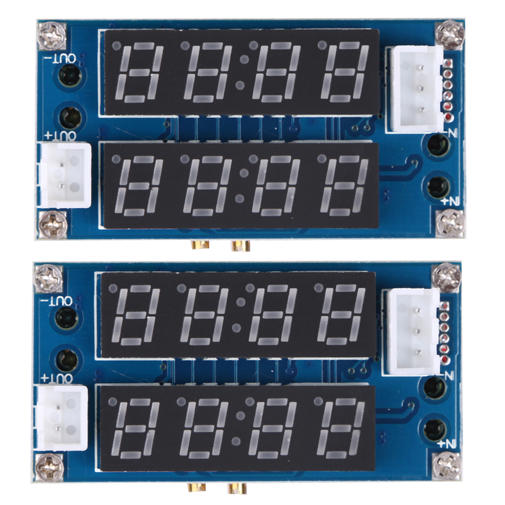 Hot Selling 2PC 5A Adjustable Power CC/CV Step-down Charge Module LED Driver Voltmeter Ammeter Constant current constant voltage 90w led driver dc40v 2 7a high power led driver for flood light street light ip65 constant current drive power supply