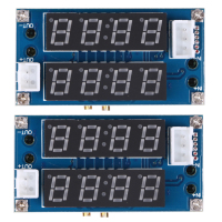 Hot Selling 2PC 5A Adjustable Power CC CV Step Down Charge Module LED Driver Voltmeter Ammeter