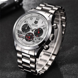 Image 2 - Часы хронограф мужские спортивные из нержавеющей стали, 5107