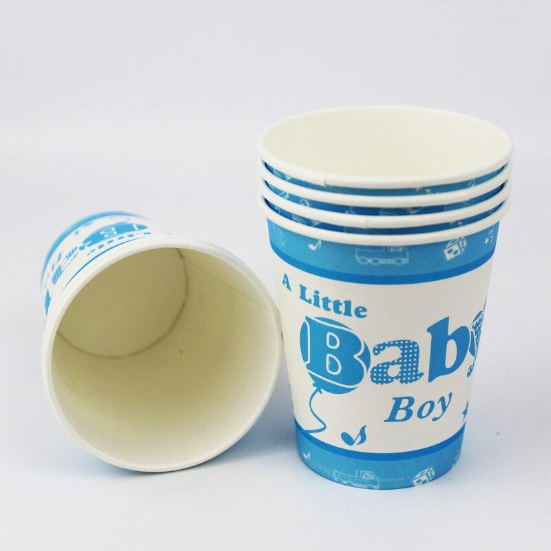 12 pcs joyeux anniversaire decoration parti vaisselle jetable gobelets en papier un petit bebe garcon de bande dessinee motif enfants articles de fete
