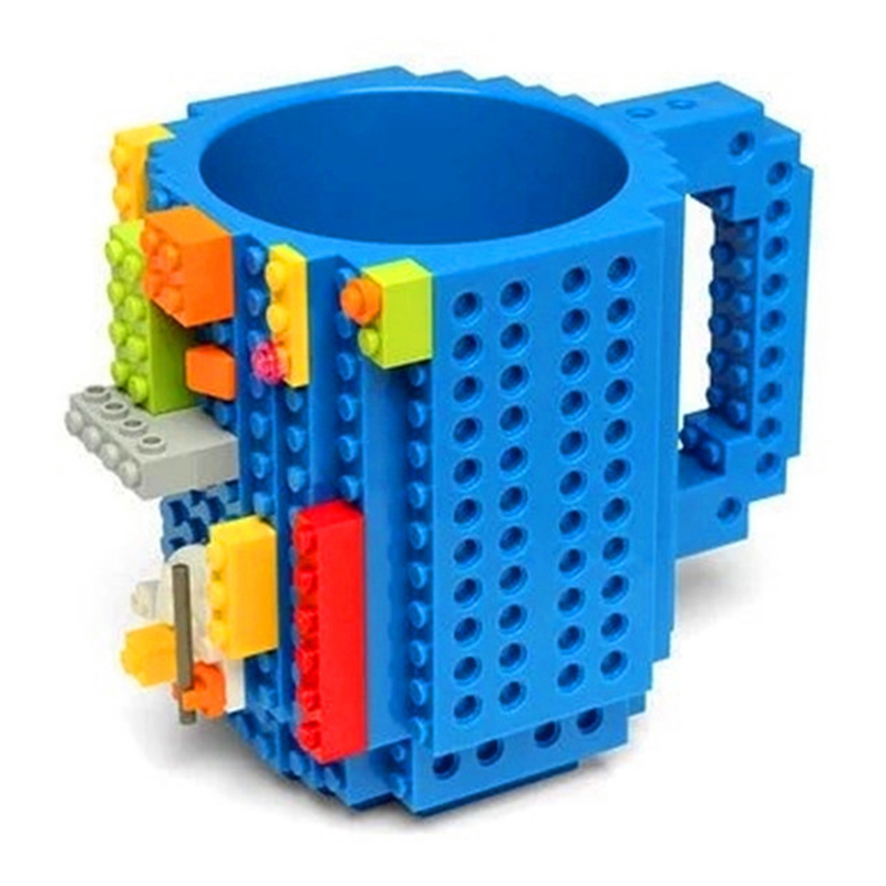 Brand Drinkware Creative Mugs Cup LEGO Building Blocks Cups DIY Block Puzzle Assembled Coffee Cup P241
