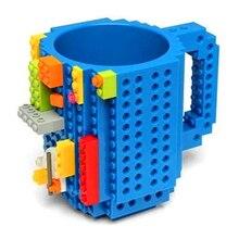 Marke Drink Kreative Becher Tasse LEGO Bausteine Cups DIY Block Puzzle Zusammengesetzt Kaffeetasse P241