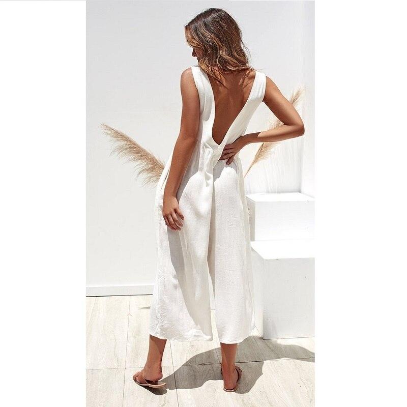 ZOGAA Lady Womens Jumpsuit 6 Color O Neck Loose Solid Bodysuit Party Jumpsuit Romper Chiffon Long Wide Leg Trousers Clubwear