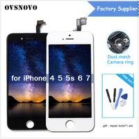 AAA calidad LCD 3D PANTALLA TÁCTIL PARA EL iPhone 6 5 5S 4 7 Exhibición del LCD con el vidrio del digitizador ninguna muerto reparación negro/blanco