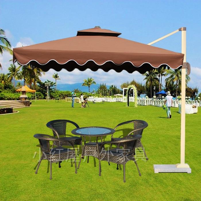 Grande Exterior De Aluminio Paraguas Plegables Marketing