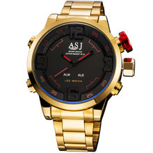 2016 модный бренд дизайн цифровой СВЕТОДИОДНЫЙ человек мужской классический часы армия прохладный спорт военная армия наручные кварцевые бизнес-подарок часы 109