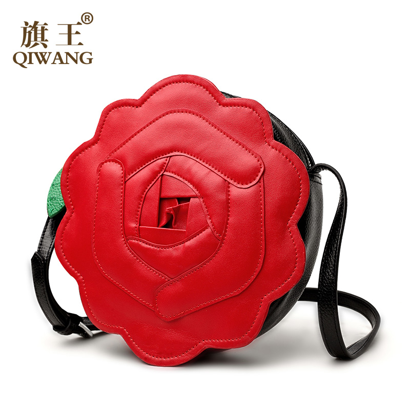 Qiwang 2016 Real Leather Small Summer O Bag Round Cool ...