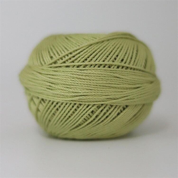 Размер 3 хлопковая Жемчужная Нить египетская длинная Штапельная хлопковая пряжа газированная двойная мерсеризованная 6 нитей плетение 50 грамм на шарик - Цвет: 683