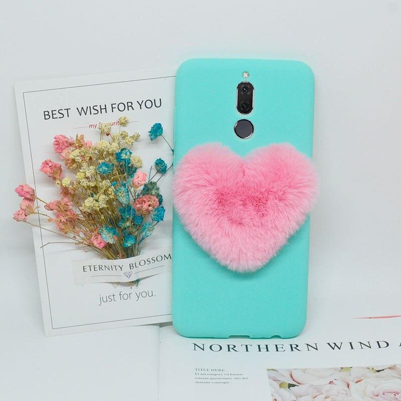 3D Love Plush Cute Soft Nap Case For Huawei P8 P9 P10 P20 Mate 10 Lite Pro/P Smart/Y6 2018/Honor Play/8X/9/10 Lite/NOVA 3I Cover