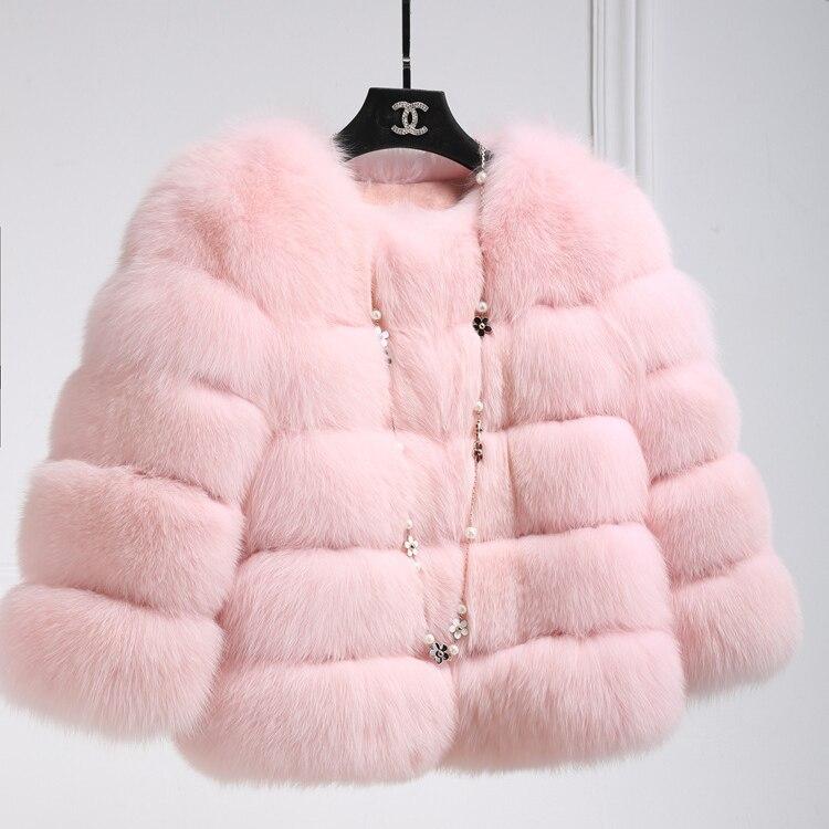 0b905b0fc4 pu D'hiver Chaude Femmes De Manteau Fourrure Pelucheux blanc Vestes  bourgogne 2019 Courtes bleu Ciel Rose Rouge Veste rose gris Faux p0YTqw