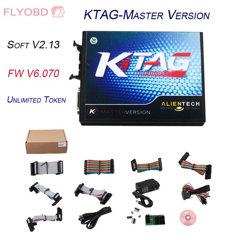 Цена за KTAG K-TAG ECU Chip Tuning Master version KTAG V2.13 K TAG V6.070 ECU Programmer with unlimited Tokens Free ECM Titanium
