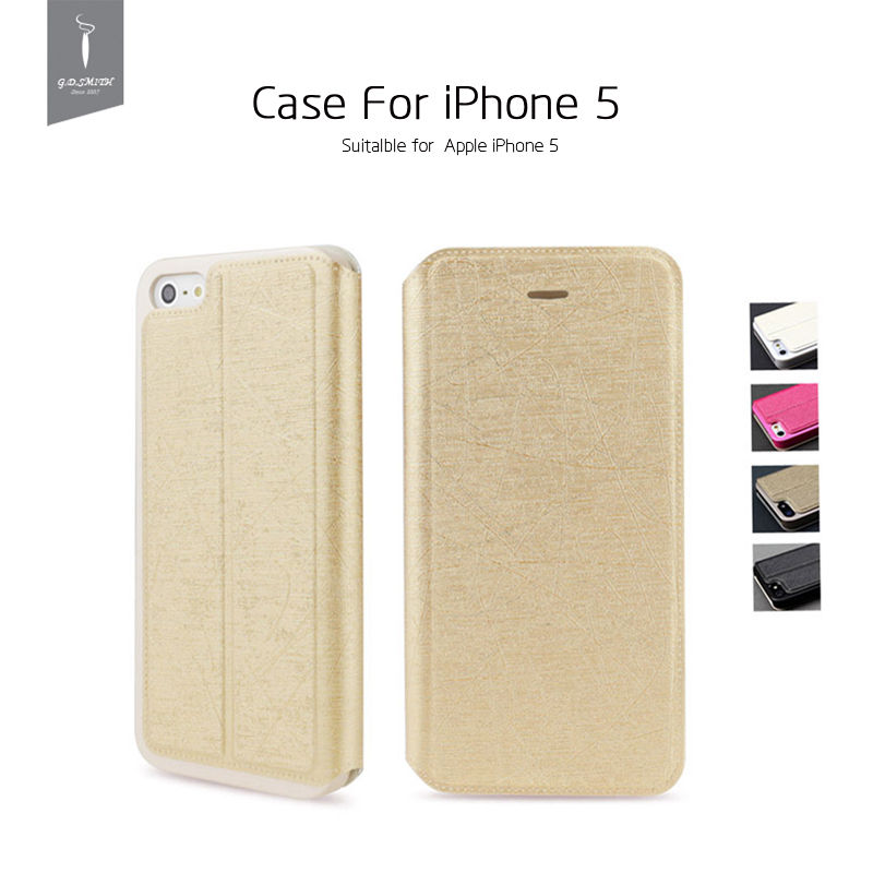Luxury PU Case Cover iPhone 5 5s Flip Phone Package Godosmith Brand Original  -  G.D.SMITH official store store