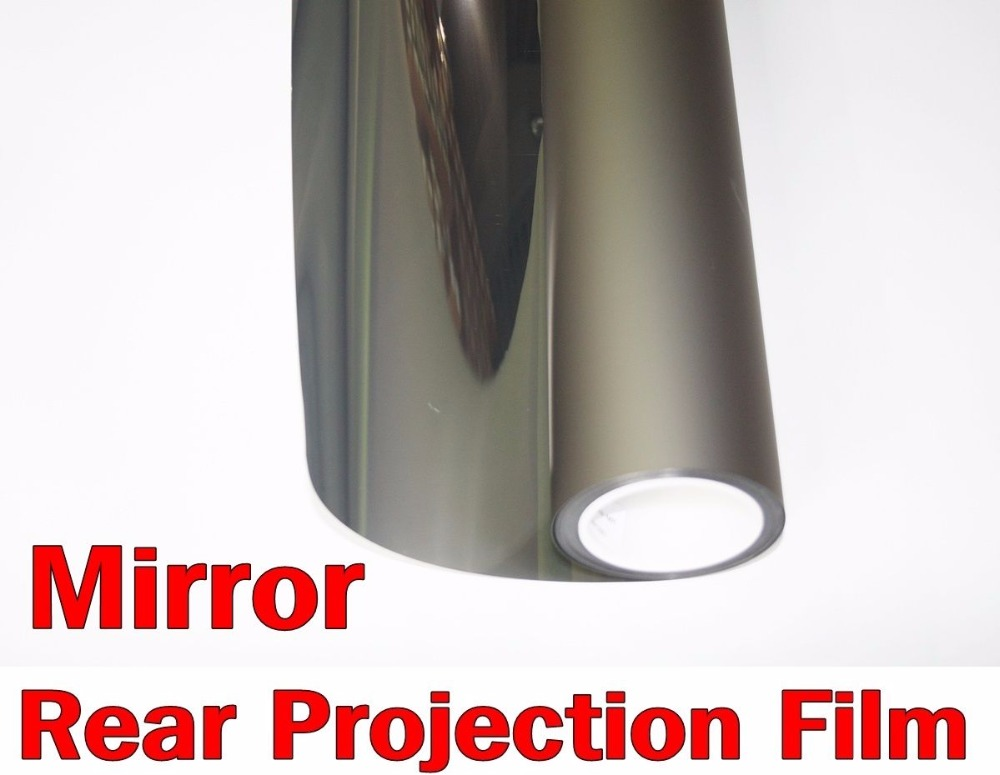 Full HD Mirror Rear Projection Screen Film 1.52x2 Meter for Indoor Window Projection 24 dark gray gray white holographic rear projection screen transparent rear projector film indoor hologram advertising