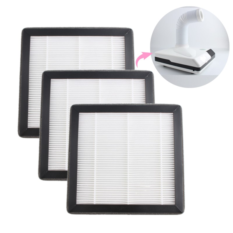 1/2/5 Piece 60W Nail Dust Collector Filter Manicure Machine Original Accessories Screen Plate Suction Nail Drill Fingernail Dirt
