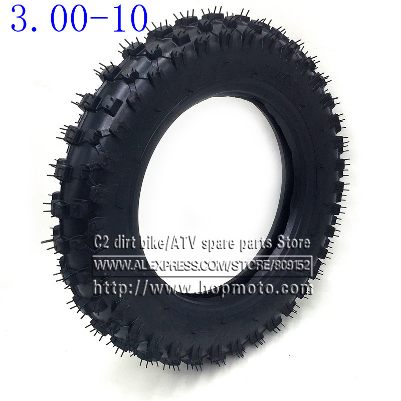 3.00-10 Rear Wheel Tire Outer Tyre 10 inch deep teeth Dirt Pit Bike Off Road Motorcycle Use Guang Li CRF50 Apollo image