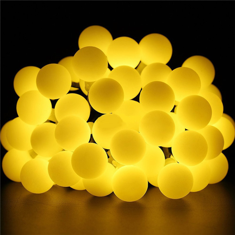 HTB1zgyqUiLaK1RjSZFxq6ymPFXah - White Ball Solar Lamp 10M Power LED String Fairy Lights Solar Garlands Garden Christmas Party Decor For Outdoor 50 LEDS Small