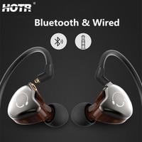 HOTR 2 In 1 Removable Bluetooth Wired Earphone Detachable Earphone With MIC Sport Music Wireless Earpiece