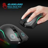 T26 Computador Mouse Sem Fio 2.4G Ratos Exigível Para Jogos de Computador de Escritório 2.4G sete-botão do mouse sem fio recarregável
