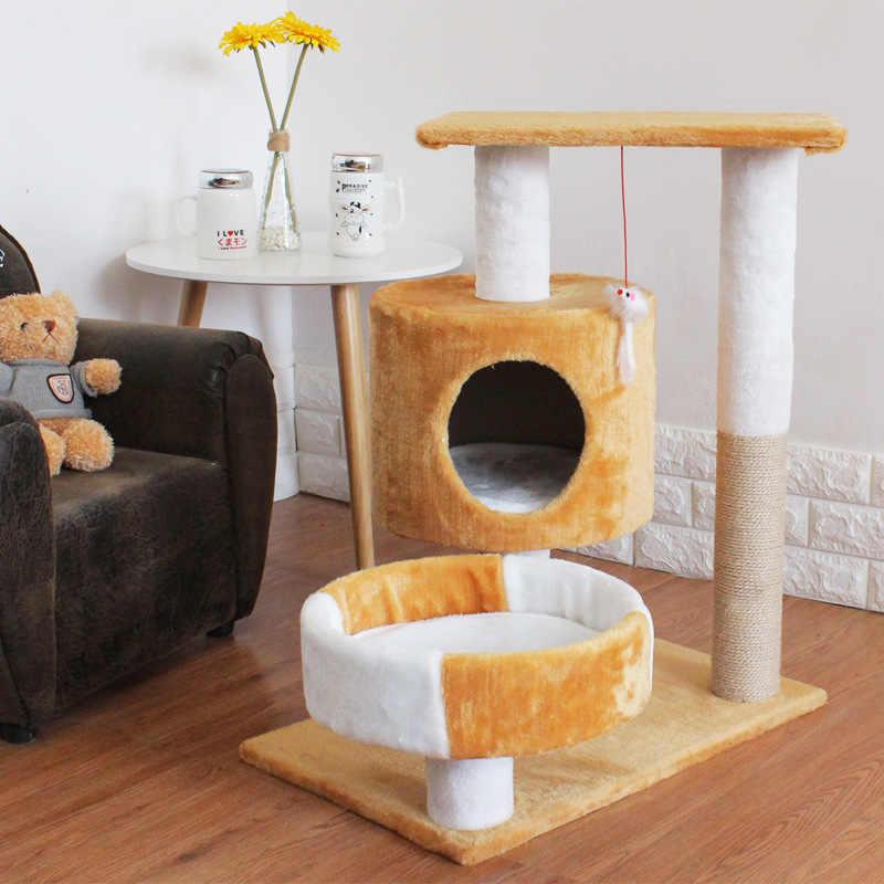 Súper Grandes 3 Gatos Usando Manta De Cama Para Gatos Casa Fuerte Carga Rodamiento Estructura Del Suelo Muebles Para Gatos Divertidos Rascadores