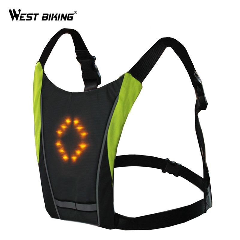 Bicycle Accessories Led Light Warning Vest Usb Charging Backpack Mtb Bike Bag Safety Led Signal Vests Warning Accessories 1pc Back To Search Resultssports & Entertainment