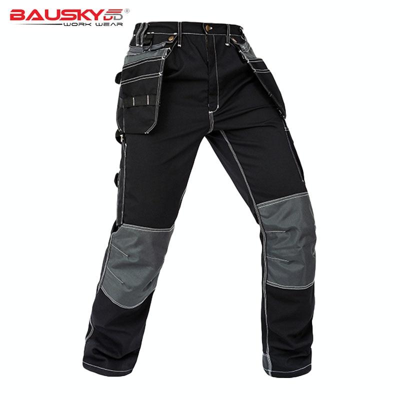 Men Working Pants Multi Functional Pockets Wear resistance Workwear trousers High quality Work Mechanic Repair Mens