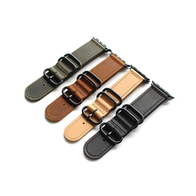 38mm 42mm Brown Black green khaki Replacement Watch Fit For Iwatch Apple Genuine Leather Band Straps Women Man