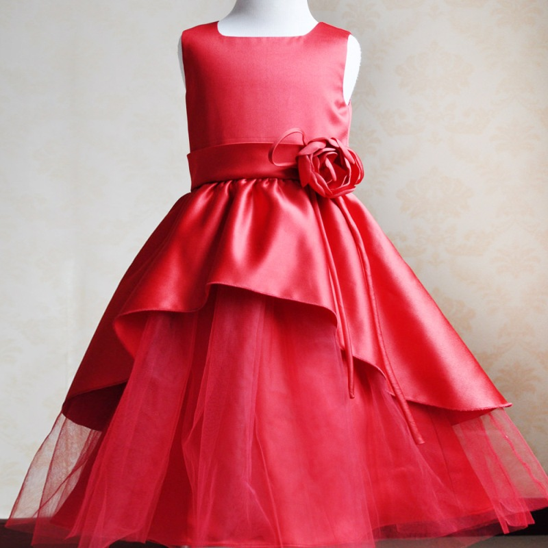 Aliexpress Buy White Red Color Sleeveless Wedding Party Costume Kids Layered Tutu Dress