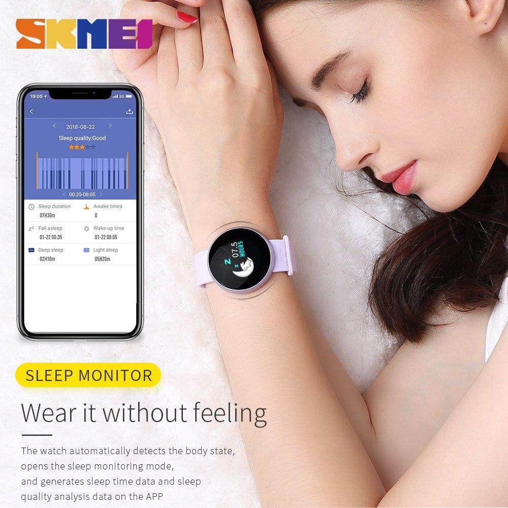 SKMEI B36 ผู้หญิงใหม่สมาร์ท 12 ภาษานาฬิกาหญิงรัสเซียเตือนอัตราการเต้นของหัวใจนาฬิกาแคลอรี่ Step Beauty นาฬิกาข้อมือ-ใน นาฬิกาข้อมือสตรี จาก นาฬิกาข้อมือ บน   2