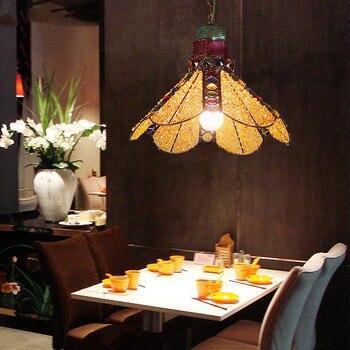 Mediterania Maroko kreatif retro chandelier lampu ruang tamu bar warna payung Asia Tenggara lampu perasaan asmara