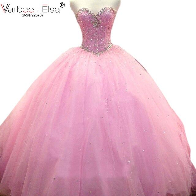 1912028f3c Vestido de festa rebordeó cristales Vestidos de quinceañera con volantes de  organza cristal Cuentas bola coral