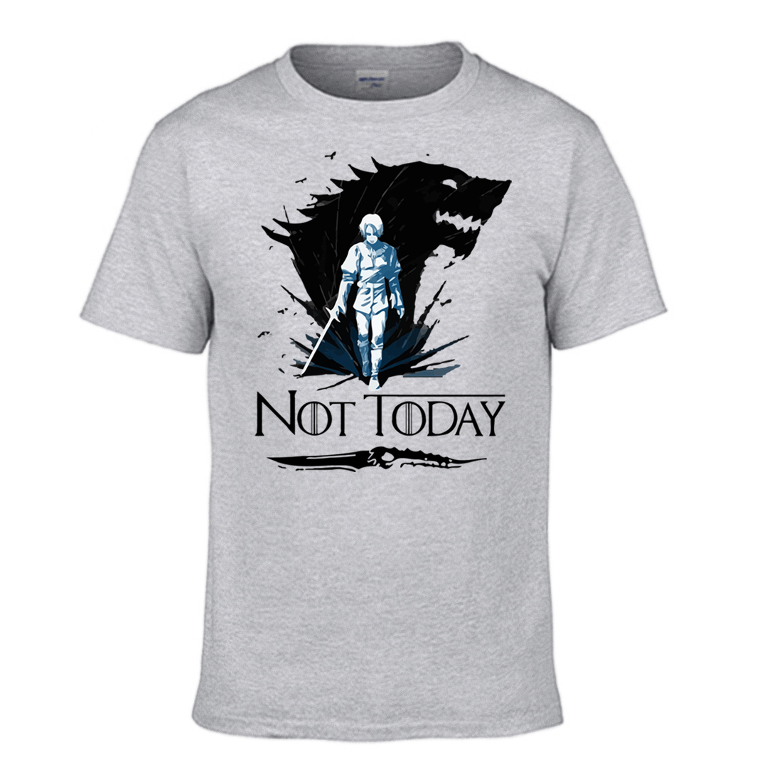 Ayra Stark Game Of Thrones Tshirt Men Not Today   T     Shirt   The Night King Summer Top   Shirts   Cotton Short Sleeve Tops Cool   T  -  Shirt