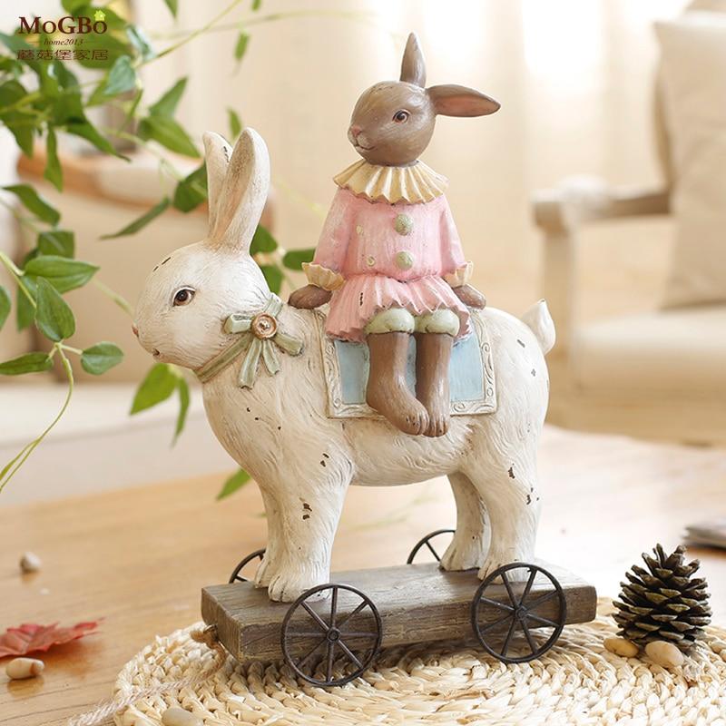 Fairy Garden Easter Retro Resin Rabbit Animal Nostalgia