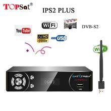 IPS2 Plus DVB-S2 IPTV BOX Full HD 1080 P цифровой спутниковый ресивер + USB wifi декодеры поддержка powervu Cline bisskey