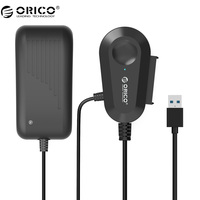 ORICO 35UTS USB3.0 2.5 et 3.5 pouce SATA Externe Disque Dur Adaptateur avec Intégré 8 pouce USB3.0 Câble-Noir