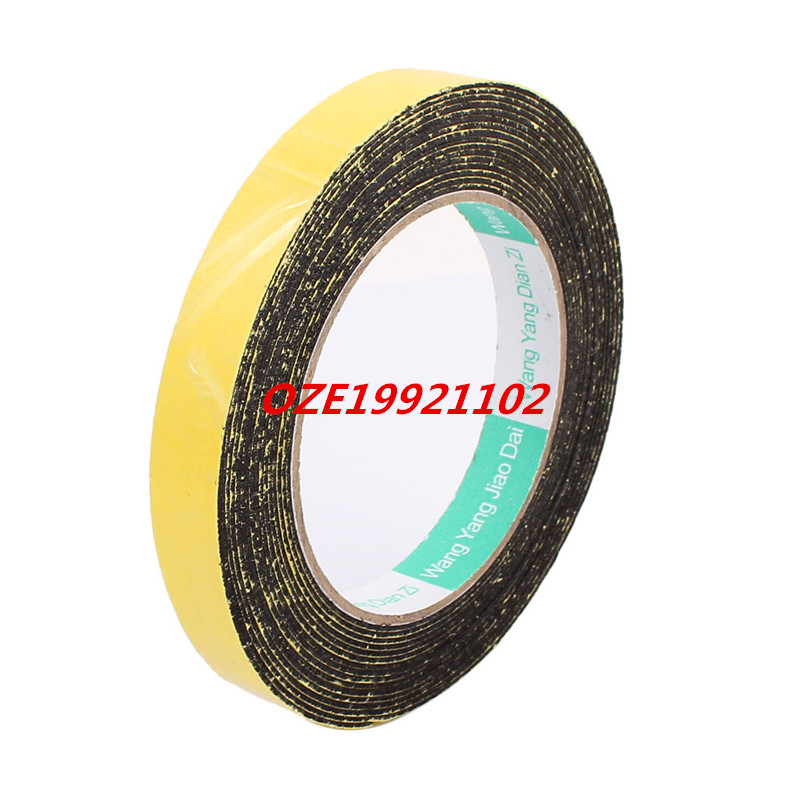 15mm x 1mm Single Sided Self Adhesive Shockproof Sponge Foam Tape 5M Length 2pcs 2 5x 1cm single sided self adhesive shockproof sponge foam tape 2m length
